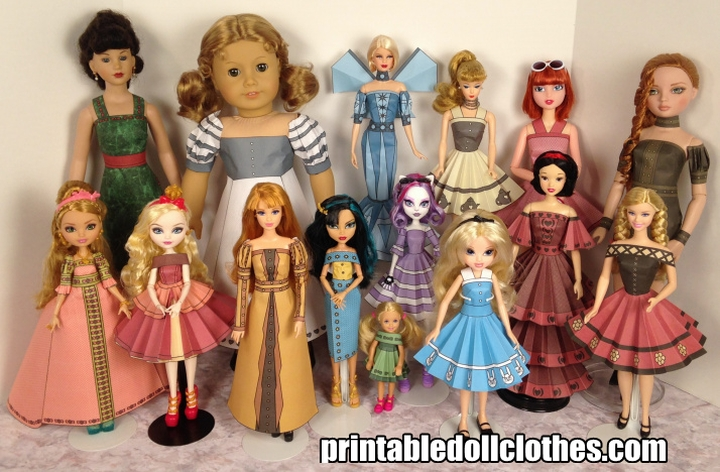 Printable Doll Clothes