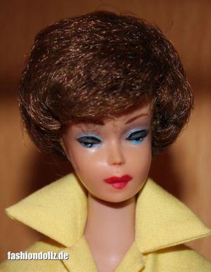 1961 Bubble Cut Barbie reverse Sidepart brunette
