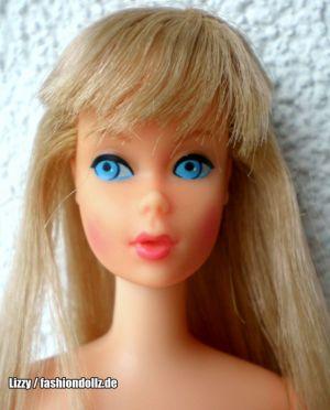 1967 German Bendleg Barbie Doll, blonde #1163