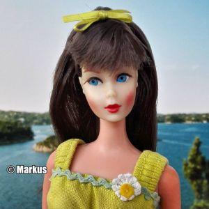 1967  Twist 'n Turn Barbie, brunette (Kastanie) #1160
