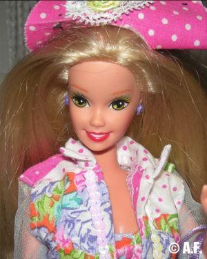 1992 Teen Talk Barbie, blonde - pink hat / Ich spreche mit dir