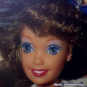 1992 Teen Talk Barbie, brunette - blue hat