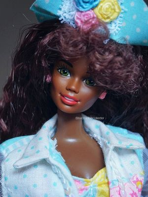 "1992 Teen Talk Barbie AA ""I really talk!"", turquoise hat #1612"