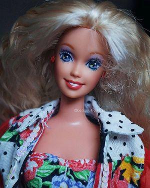1992 Teen Talk Barbie, blonde - black hat / Ich spreche mit dir
