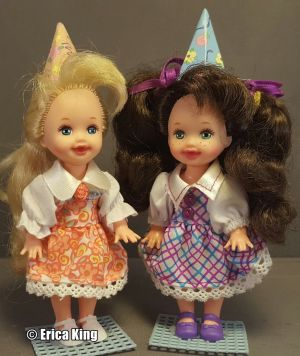 1996 Birthday Fun Barbie, Kelly and Chelsie Giftset  #15610