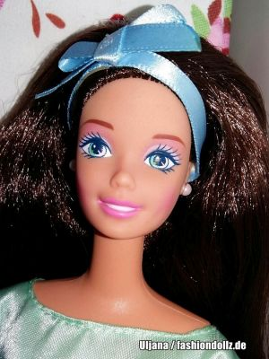 1998 Spring Tea Party Barbie, brunette #18658 Avon Special Edition