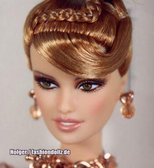 2012  Rush of Rose Gold Barbie W3504 Robert Best