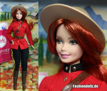 2013 Dolls of the World - Canada Barbie #X8422