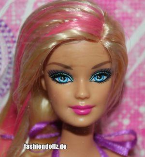 2013 Hairtastic - Glam Hair Wave 1 Barbie - pink  X7887