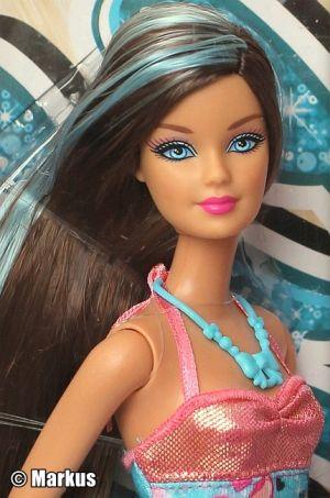 2013 Hairtastic - Glam Hair Wave 1 Barbie - blue X7884