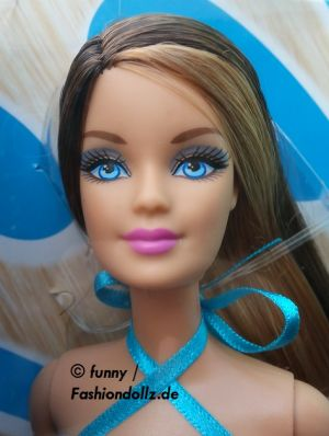 2013 Hairtastic / Glam Hair Wave 2 Barbie - brunette Y9927