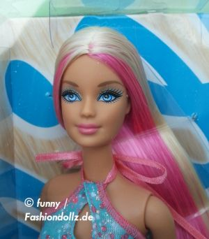 2013 Hairtastic / Glam Hair Wave 2 Barbie - pink  Y9926