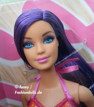 2013 Hairtastic / Glam Hair Wave 2 Barbie - purple Y9928