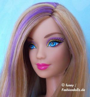 2013 Hairtastic - Glam Hair Wave 1 Barbie - violet X7885