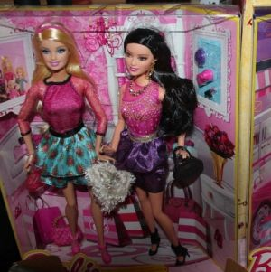 2013 Life in the Dreamhouse Stylin' Friends - Barbie & Raquelle BDB41