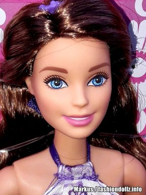 2016 Barbie Chic - Satin Dress blue, brunette