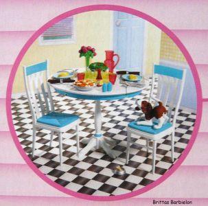 Deluxe Möbel - Barbie Esszimmer(türkis) Mattel 2006 Bild #01