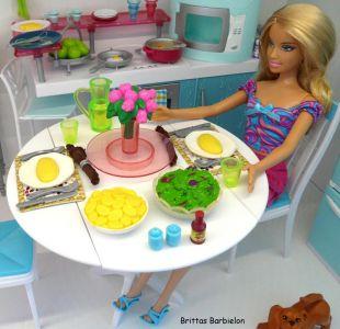 Deluxe Möbel - Barbie Esszimmer (türkis) Mattel 2006 Bild #12