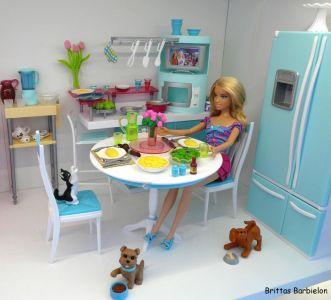 Deluxe Möbel - Barbie Esszimmer (türkis) Mattel 2006 Bild #13