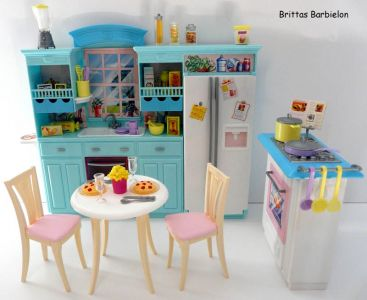Barbie Living in Style Kitchen Playset Mattel 2002 Bild #01