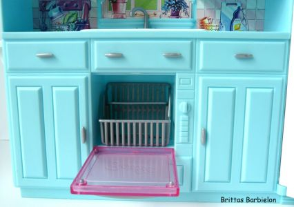 Barbie Living in Style Kitchen Playset Mattel 2002 Bild #04