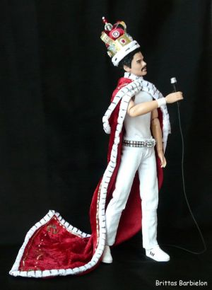 Freddie Mercury - God save the Queen - OOAK - Bild 14