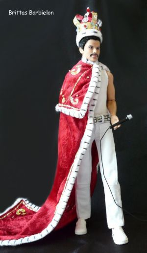 Freddie Mercury - God save the Queen - OOAK - Bild 18