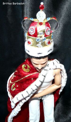 Freddie Mercury - God save the Queen - OOAK - Bild 20