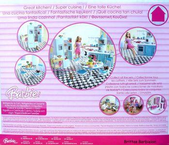 Deluxe Möbel - Kühlschrank und Servierwagen Mattel 2006 Bild #02