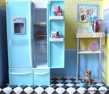 Deluxe Möbel - Kühlschrank und Servierwagen Mattel 2006 Bild #04