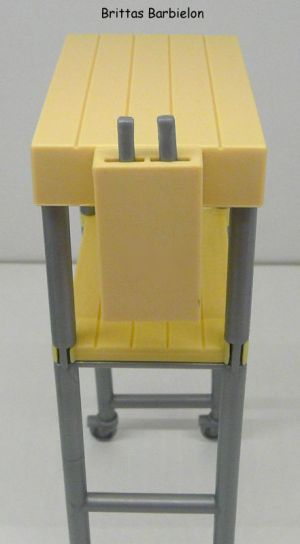 Deluxe Möbel - Kühlschrank und Servierwagen Mattel 2006 Bild #06