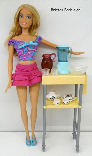 Deluxe Möbel - Kühlschrank und Servierwagen Mattel 2006 Bild #11