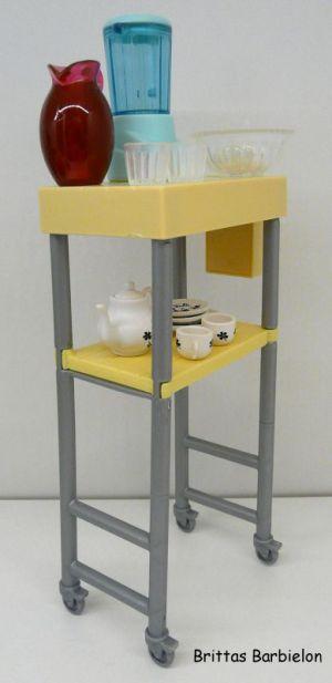 Deluxe Möbel - Kühlschrank und Servierwagen Mattel 2006 Bild #12