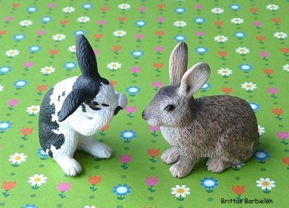 Osterdeko Miniaturen Schleich Häschen