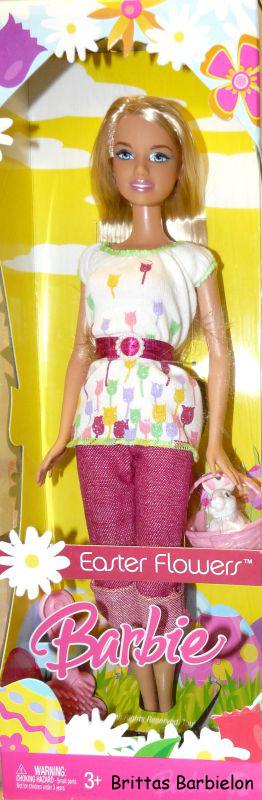 Osterdeko Easter Flowers Barbie (Mattel, 2007)