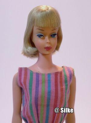 1966 American Girl, blonde - pink skin #1070 very rare