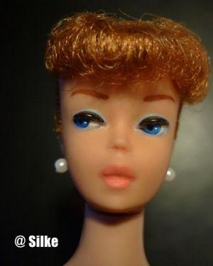 1961 Ponytail Barbie No. 5, titian / redhead #850