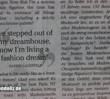 Karl Lagerfeld Zeitung (2)