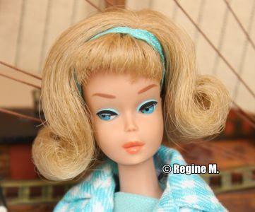 1966 Sidepart American Girl Barbie, blonde #1070