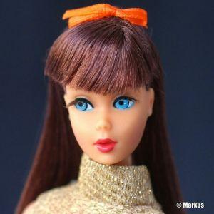 1967  Twist 'n Turn Barbie Doll, red brown #1160