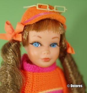1969 TNT Sausage Curls Skipper, light brown #1105