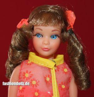 1969 TNT Sausage Curls Skipper, brunette #1105