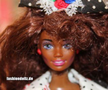 """1992 Teen Talk Barbie AA """"I really talk!"""", black hat #1612"""
