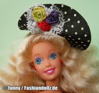 """1992 Teen Talk Barbie, blonde - black hat """"Ich spreche mit dir"""""""