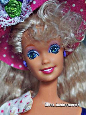 1992 Teen Talk Barbie, blonde - pink hat