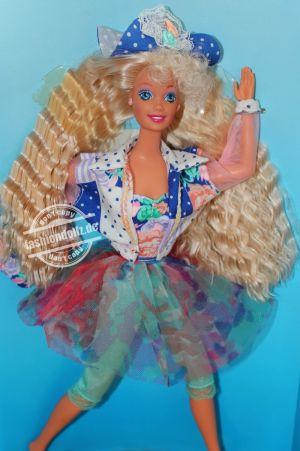 "1992 Teen Talk Barbie, blonde - blue hat ""Hbalo de verdat"" # 4818"