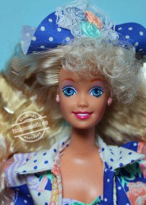 "1992 Teen Talk Barbie, blonde - blue hat ""Hbalo de verdat"" #4818"