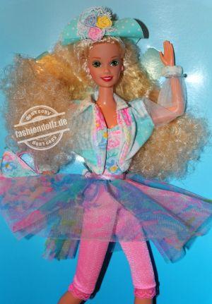 "1992 Teen Talk Barbie, blonde - turqoise hat ""Je parle vraiment"" #4709"