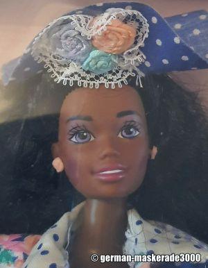 """1992 Teen Talk Barbie AA """"I really talk!"""", blue hat #1612"""