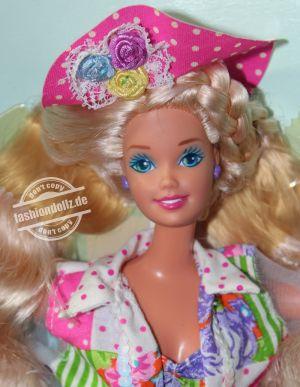 """1992 Teen Talk Barbie, blonde - pink hat """"Ich spreche mit dir"""" #4767"""